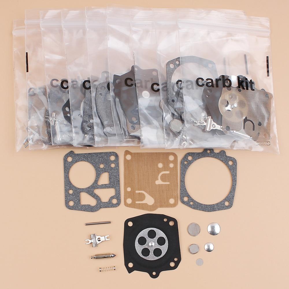 10Pcs/lot Carb Carburetor Diaphragm Repair Kit Fit Jonsered 625, 630, 670 Stihl 031 AV Chainsaw Parts