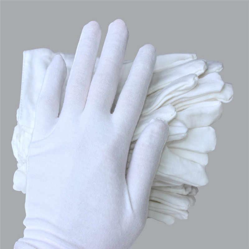 1 coppia di Cotone Bianco guanti Da Cerimonia per uomo donna Serving/Camerieri/driver/Verde Dei Monili di modo Guanti Moto Motocross