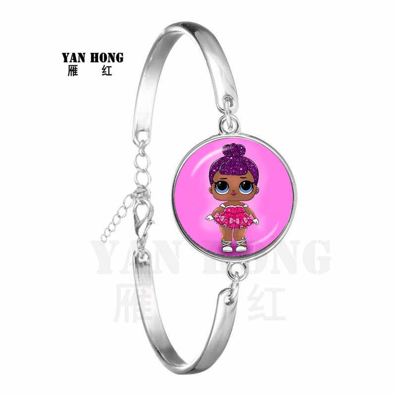 Plus récent Bracelet de bande dessinée 20mm verre Cabchon bijoux femmes hommes rond verre dôme Bracelet pour femmes filles cadeau pour les enfants