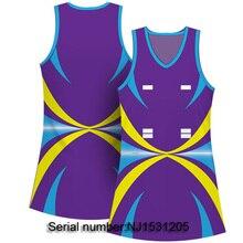 Дизайн на заказ боди для нетбола ТРАПЕЦИЕВИДНОЕ ПЛАТЬЕ С Лайкрой Ткань дышащие тренировочные костюмы для тренировок для женщин
