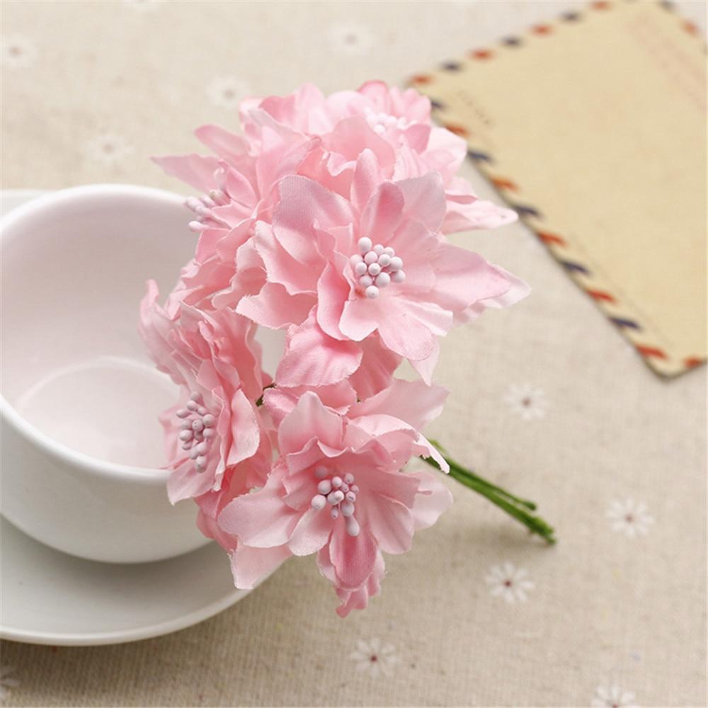 Cheap 12pcslot 45cm Silk Gradient Artificial Lily Flower Bouquet