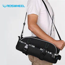 Roswheel Bicycle Bag Accessories Bag Bike Rainproof Nylon Bicycle Basket Saddle Bags Backpack Versatile Black Unisex Bike Bags