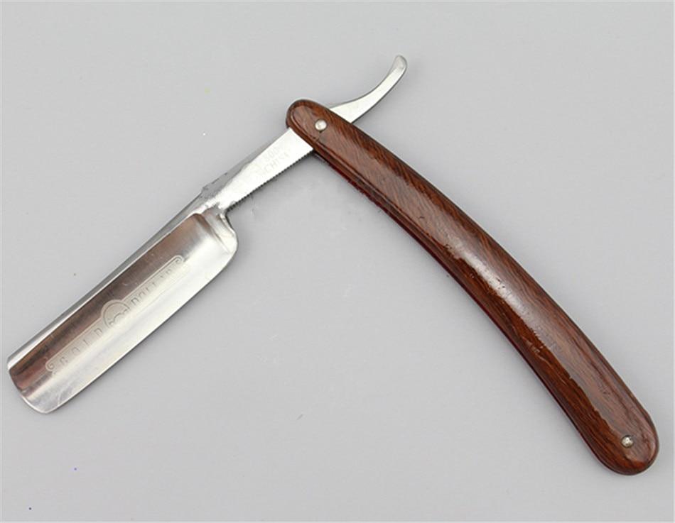 Japan440C Steel Straight Razor Men Shaving Razors Barber Barbeador Copper Manual Shaver Classic Scraper - 4