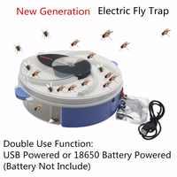 Trampa de mosca eléctrica tipo USB con cebo para Control de plagas eléctrica anti mosca trampa para insectos repelentes de insectos vliegenvan