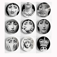 Italy Fornasetti Plates Wall Decorative Plate Vintage Art 8 Inch Wall Hanging Plate Wholesale