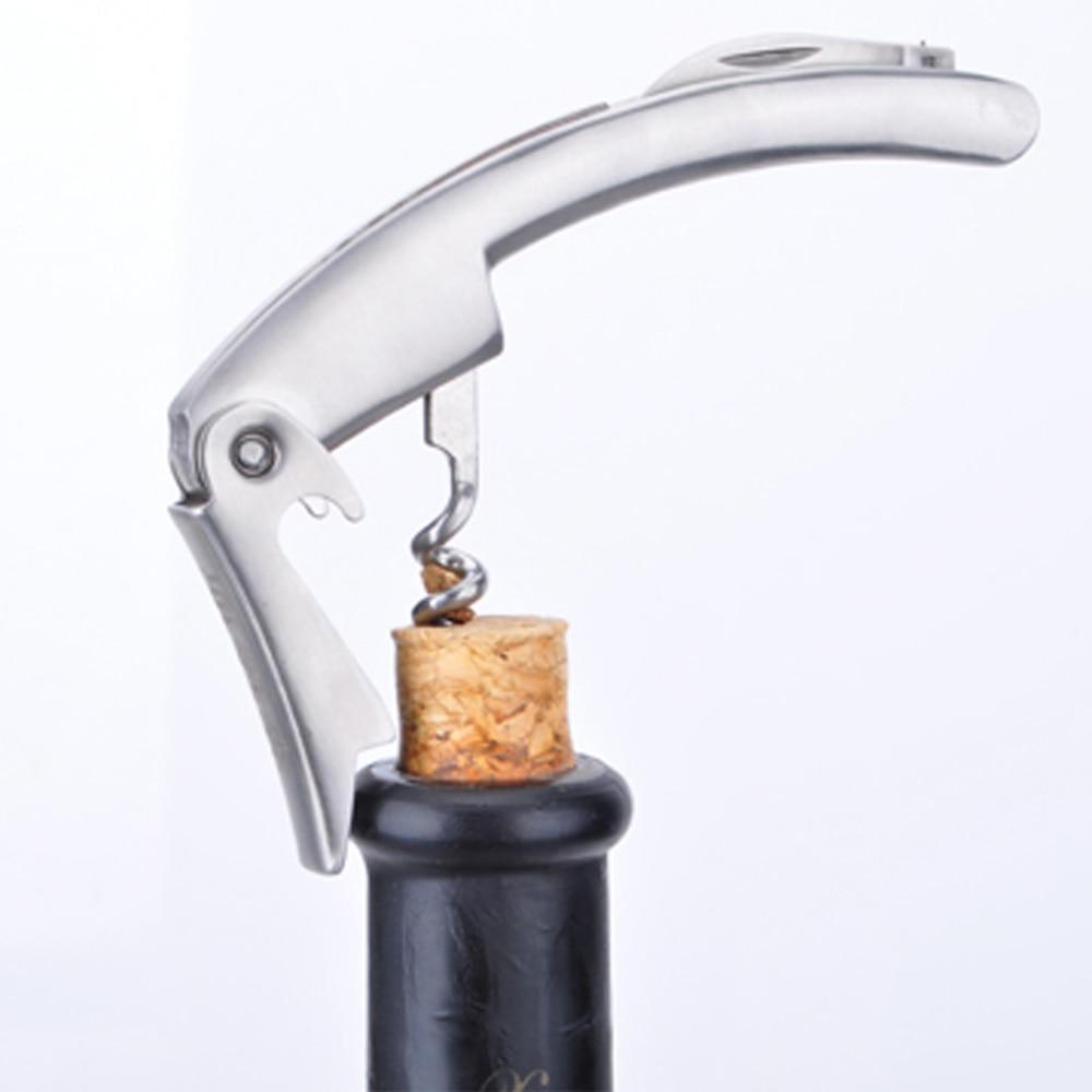 Высокая жесткость прочный из нержавеющей стали красное вино изогнутый дизайн штопор вина открывалка для бутылок пробка съемник толстый тип бесплатная