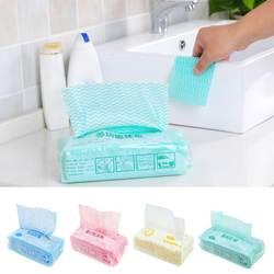 Одноразовые съемный нетканые ткани металлическая губка для мытья посуды сухим полотенцем абсорбент антипригарным rag