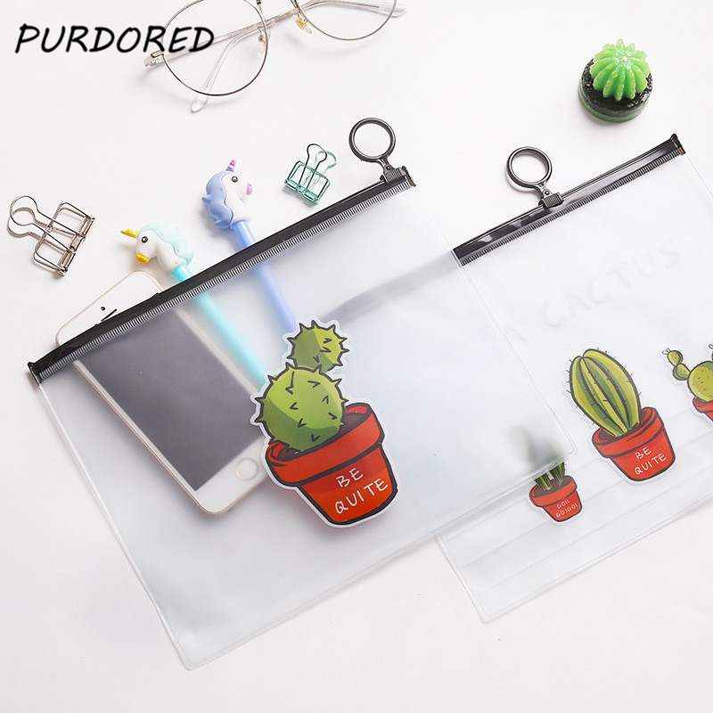 PURDORED 1 pc Cactus Clear Cosmetic Bag Waterproof pvc Transparent Necessary Makeup Bag Case Bath Wash Organizer Dropshipping PURDORED 1 pc Cactus Clear Cosmetic Bag Waterproof pvc Transparent Necessary Makeup Bag Case Bath Wash Organizer Dropshipping