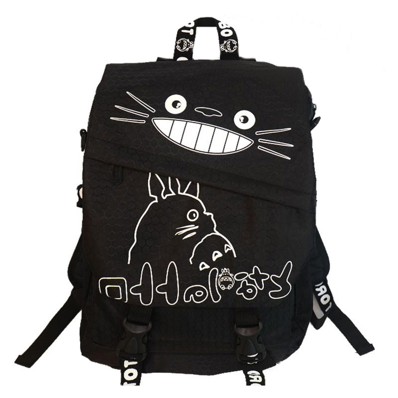 Teenager Totoro Backpack Canvas Hayao Miyazaki Boys Anime School Bags Girl Cartoon A4 Book Bag Children Schoolbag Mochila BP0174 2017 canvas preppy backpack miyazaki hayao hot anime totoro mochila women backpacks students school bags for teenagers girls