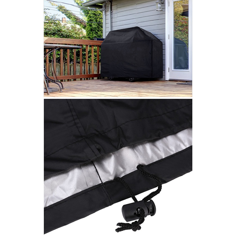 HTB1cQQsaOzxK1Rjy1zkq6yHrVXaX - Black Waterproof BBQ Cover Accessories Grill Cover