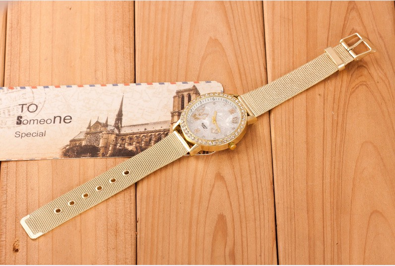 Relogio feminino Brand High Quality Sport Watch Metal Mesh Stainless Steel Dress Women Watches Butterfly pattern quartz watch in Women 39 s Watches from Watches