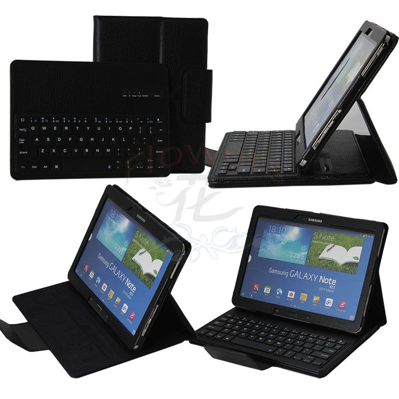 For Samsung Galaxy Note Pro & Tab Pro 12.2 SM-P900 / P905 Bluetooth Keyboard Cover Case (Smart Cover Wake / Sleep) Black 360 degree rotation pu leather smart case w card slot for samsung galaxy note pro 12 2 p900 black