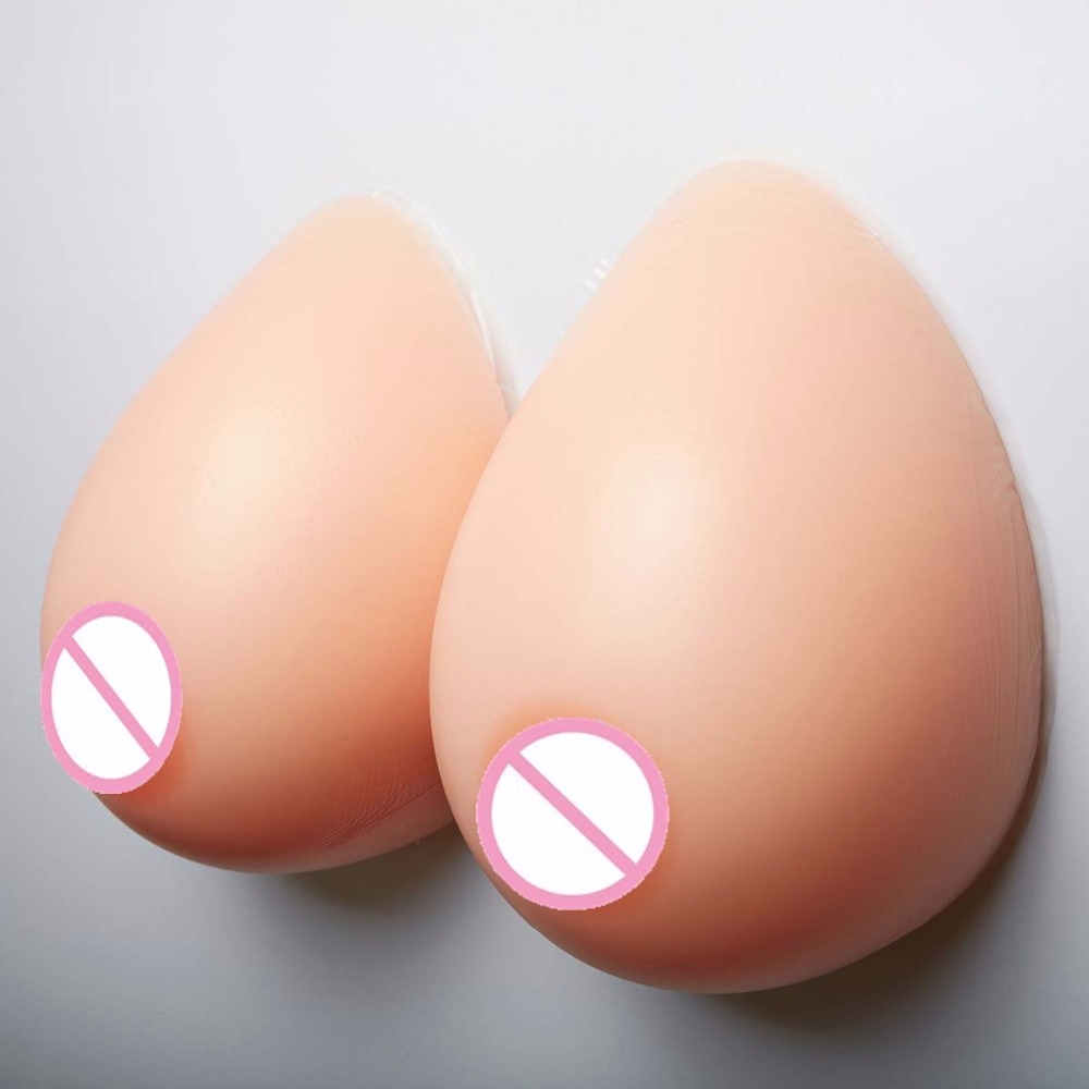2000g 1 pair F cup False breast Artificial Breasts Silicone crossdresser breast forms bra Fake boobs Tits realistic drag queen