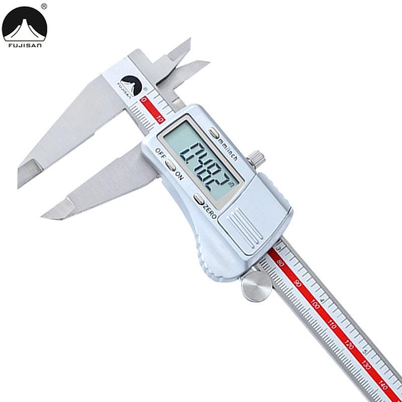 FUJISAN Digital Caliper 0 200mm 0 01mm Stainless Steel Metric Inch Electronic Vernier Calipers Micrometer Gauge