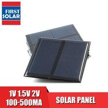 DIY солнечная панель 100 120 150 250 300 350 435 мА, солнечная панель 1 в 500 В 2 в, компактное портативное зарядное устройство для телефона