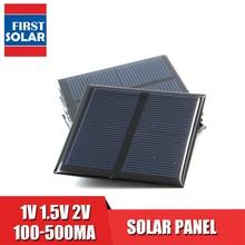DIY Solar Panel 100 120 150 250 300 350 435 500 mA Solar Panel 1V 1.5V 2V Mini Solar Battery Cell Phone Charger Portable