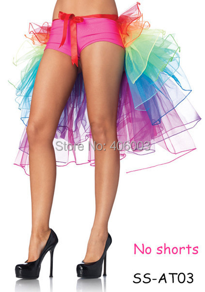 free shipping adult tutu skirts girls colorful clubwear bustle party dance rainbow  carnival tutu skirt
