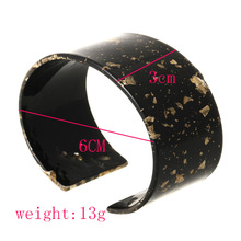 Fashion Bohemian Bracelet Acetate Sheet Exaggerated Leopard Opening Wide Face Geometry Round Trend for Women