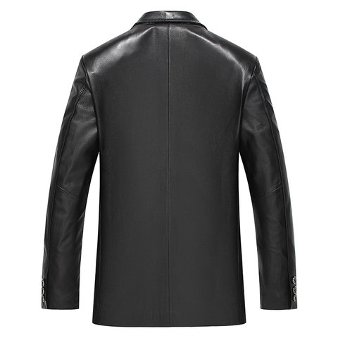 Gours Winter Genuine Leather Jacket for Men Fashion Brand Leather Suit Blazers Black Sheepskin Jackets and Coats New 4XL Lahore