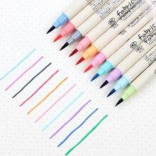 10 sztuk/partia Fineliner miękkie Brush Pen Art kolorowe Marker długopisy zestaw ołówki DIY kaligrafii rysunek napisz szkoła papiernicze