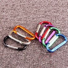 78 mmx 40mmx 7mm 10Pcs D type Aluminium Alloy Thickened Carabiner Safety Buckle Keychain Climbing Button Hiking Hook Travel Kit