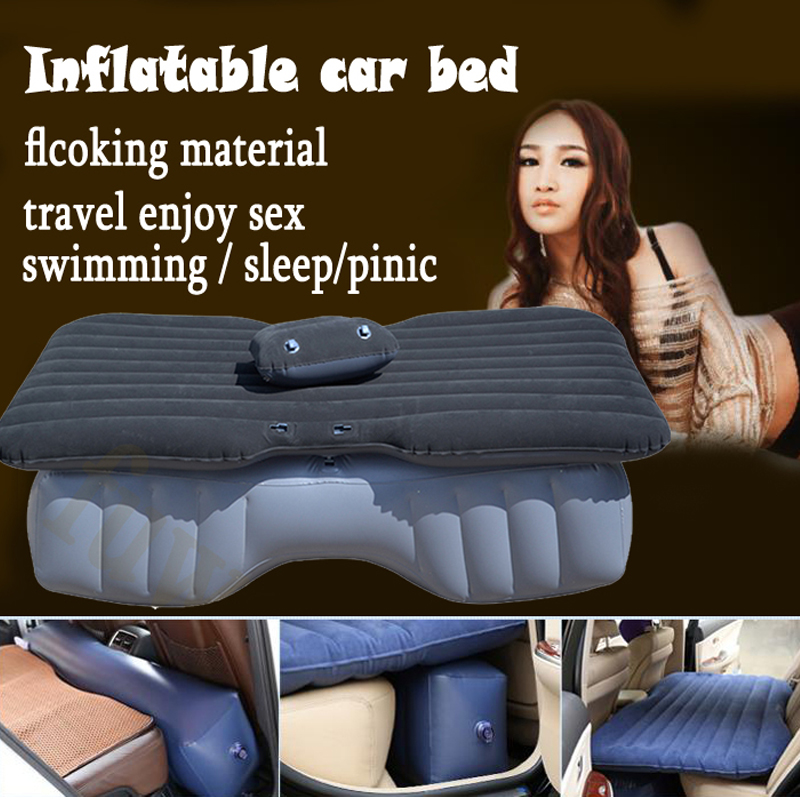 FUWAYDA hotest sale inflatable car bed +Air Pump rapid car seat cushion car pillow for All cars for travel sexy sleep