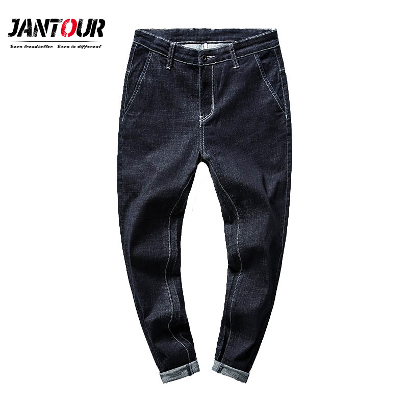 2019 New Men Classic   Jeans   Fashion Casual Primary Color Slim Fit Small Straight Male Trousers Denim Pants mens Brand Clothes