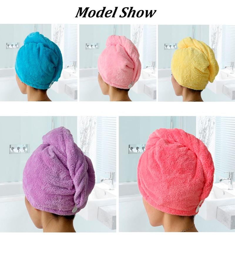 GIANTEX Women Bathroom Super Absorbent Quick-drying Microfiber Bath Towel Hair Dry Cap Salon Towel 25x65cm U0755 4