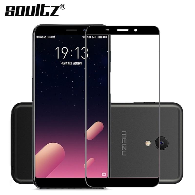 """Soultz 0.26 мм Экран протектор для Meizu m6s mblu S6 Anti-Explosion полное покрытие закаленное Стекло для Meizu m6s 5.7 """"защитный Плёнки"""