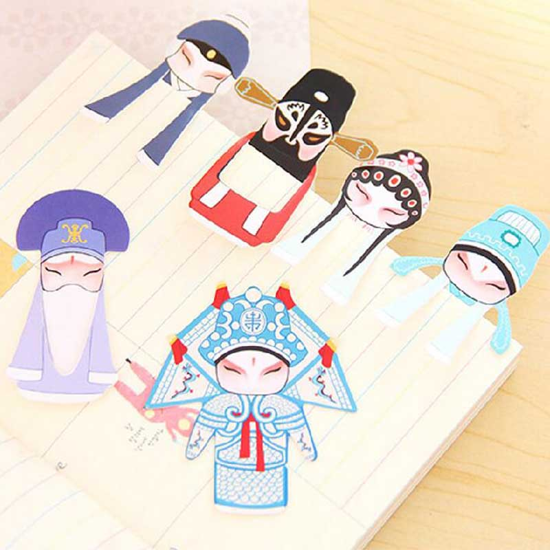 1 Set / Lot Chinese Element Paper Bookmarks , Beijing Opera Facial Masks Book Page Clips As Book Mark Marker