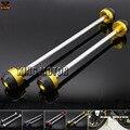Para SUZUKI GSR 750 GSR-750 GSR750 2011-2014 CNC Alumínio Front & Rear Axle Fork Crash Sliders Protetor Roda ouro