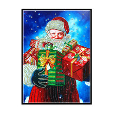 Alien, crystal, diamond mosaic, character, Santa Claus, photo, Diy, 5D, cross stitch painting, embroidery