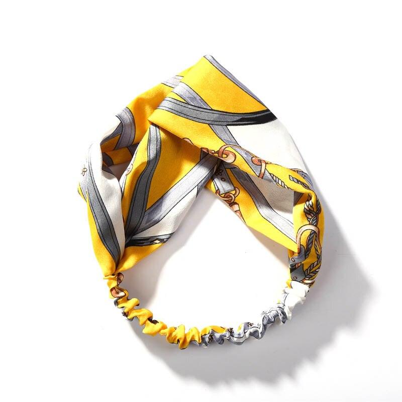 Шелковистая трикотажная ткань цветные цветочные повязки на голову аксессуары для волос тюрбан головные уборы для женщин