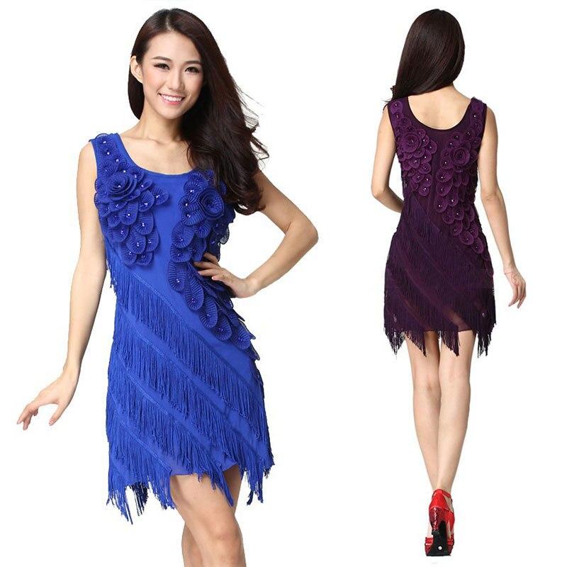 Latin Dance Dress Women Ballroom Dancing Dresses Latin Dance Costume Dance Latin Dresses Tango Dress Samba Skirts 6 Color 91203
