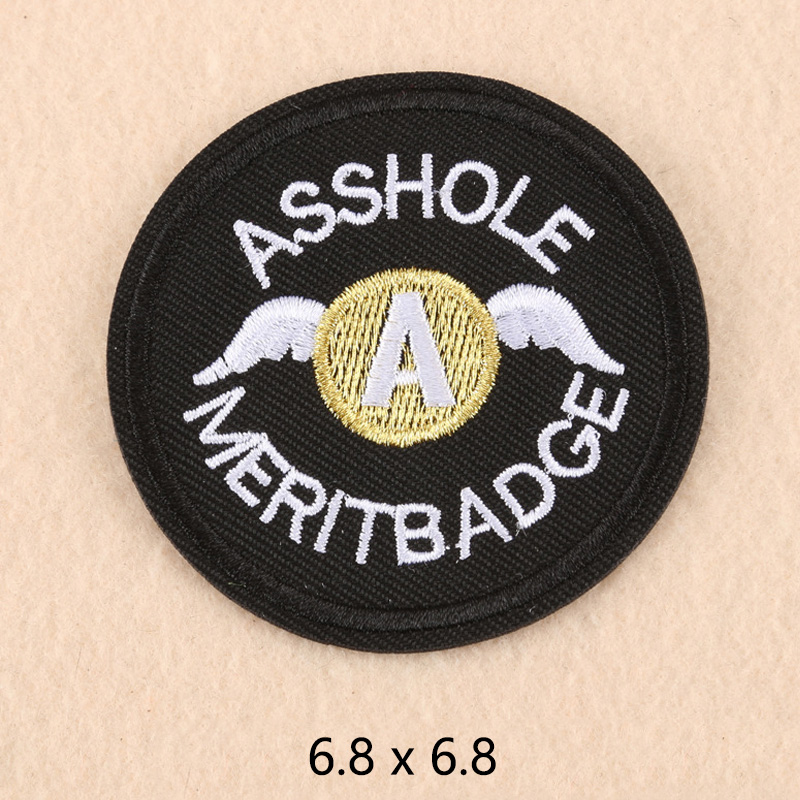 Large,Diameter 3.15 3 Pack Asshole Merit Badge Military Tactical Morale Patches Antrix Round Asshole Patches