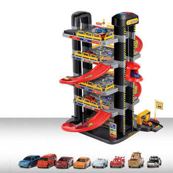 Track Car Toy Kwong Granville Enlightenment Sound And Light Music Electric Lift Super Parking Automatic Lift