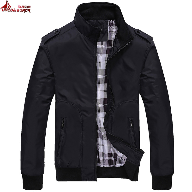 New Jacket Men Spring Autumn Solid color Male Hooded Slim Fit Basic Jacket Windbreaker Jaqueta Masculino coat size M~5XL