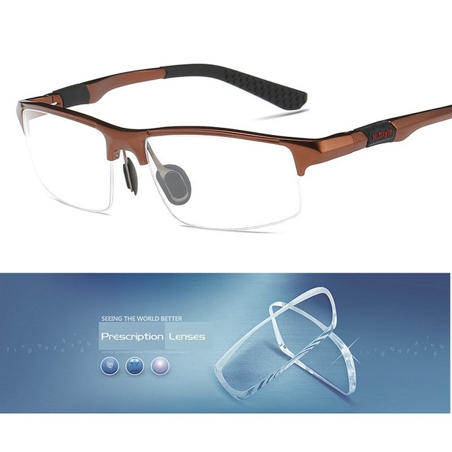5cb37a4c98b Cubojue Men s Prescription Spectacles Aluminum customize Men 1.56 1.61 1.67  Index Lens Photochromic Diopter myopia transition