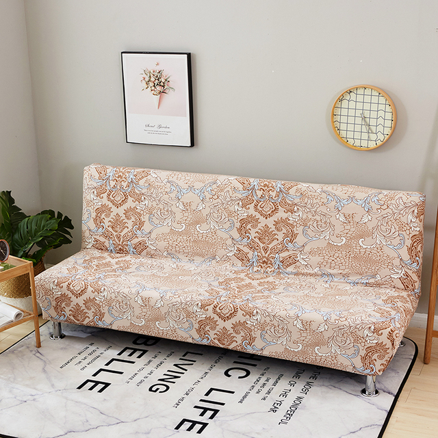 Bohemian Sofa Bed Bronze Leather Style No Armrest Covers For Living Room Home Decoration 100 Polyester Couch Slipcovers Multi