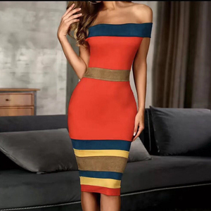 Image 3 - Adyce nouveau été Bandage robe femmes Vestidos 2020 Sexy Slash cou court sans manches hors épaule célébrité robes de soirée
