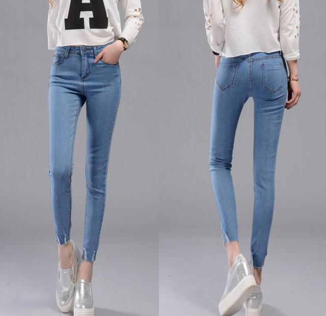 882fa693c9a Ripped Jeans For Women Skinny Denim Capri Jeans Femme Stretch Plus Size  Female Jeans Vaqueros Mujer Slim Pencil Pants For Women