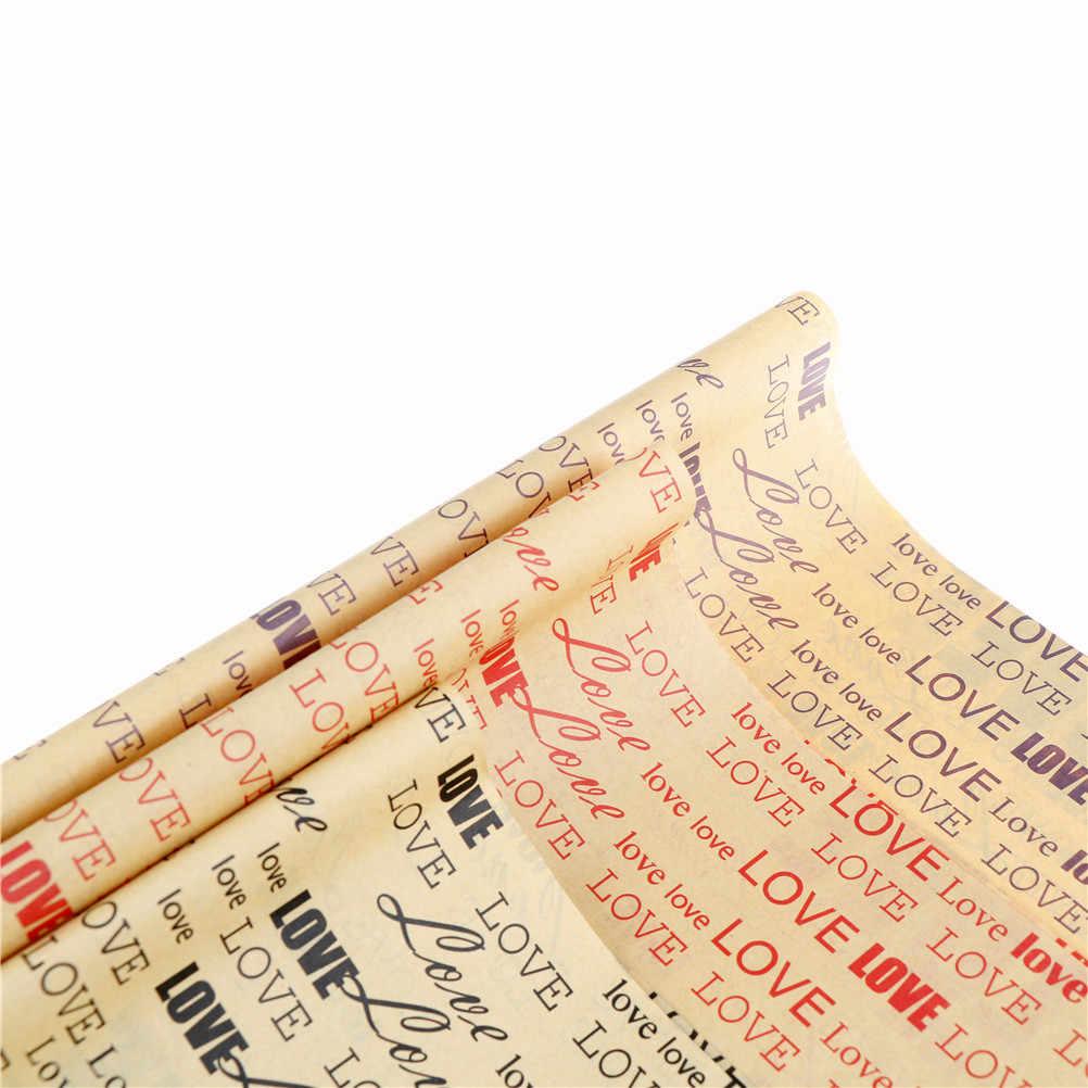 75*52cm ambalaj kağıdı eski gazete hediye Wrap Artware ambalaj paketi kağıt noel Kraft kağıt kitap renk aksesuarları