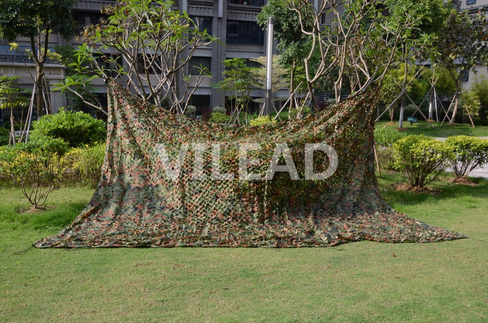 VILEAD 5M x 7M (16.5FT x 23FT) Woodland Digital Military Camouflage Netting Army Camo Net Sun Shelter for Hunting Camping Tent