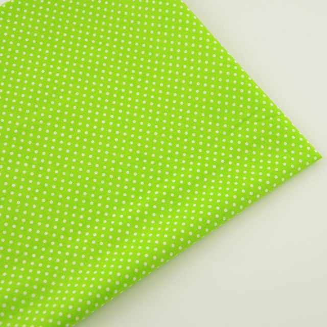 New Arrivals Sewing Cloth White Dots Design Green Cotton Fabric ...