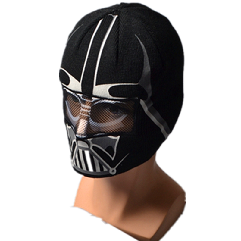 Wars Darth Vader Stormtrooper Knitted Caps Cartoon Anime Game Beanie for Adult Child Kid Headgear Skullies Cosplay Face Mask Hat
