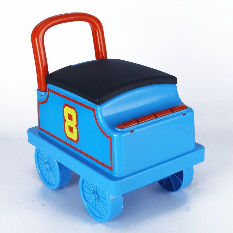 Livraison gratuite petit Train voiture électrique Rail enfant bébé marcheur peut s'asseoir poussette jouet voiture garçons jouet monter dans le Train - 6