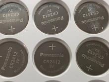 100pcs/lot New Original Battery For Panasonic CR2412 Button Cell Coin Swatch Watch Key Fobs Batteries LEXUS Car Controller