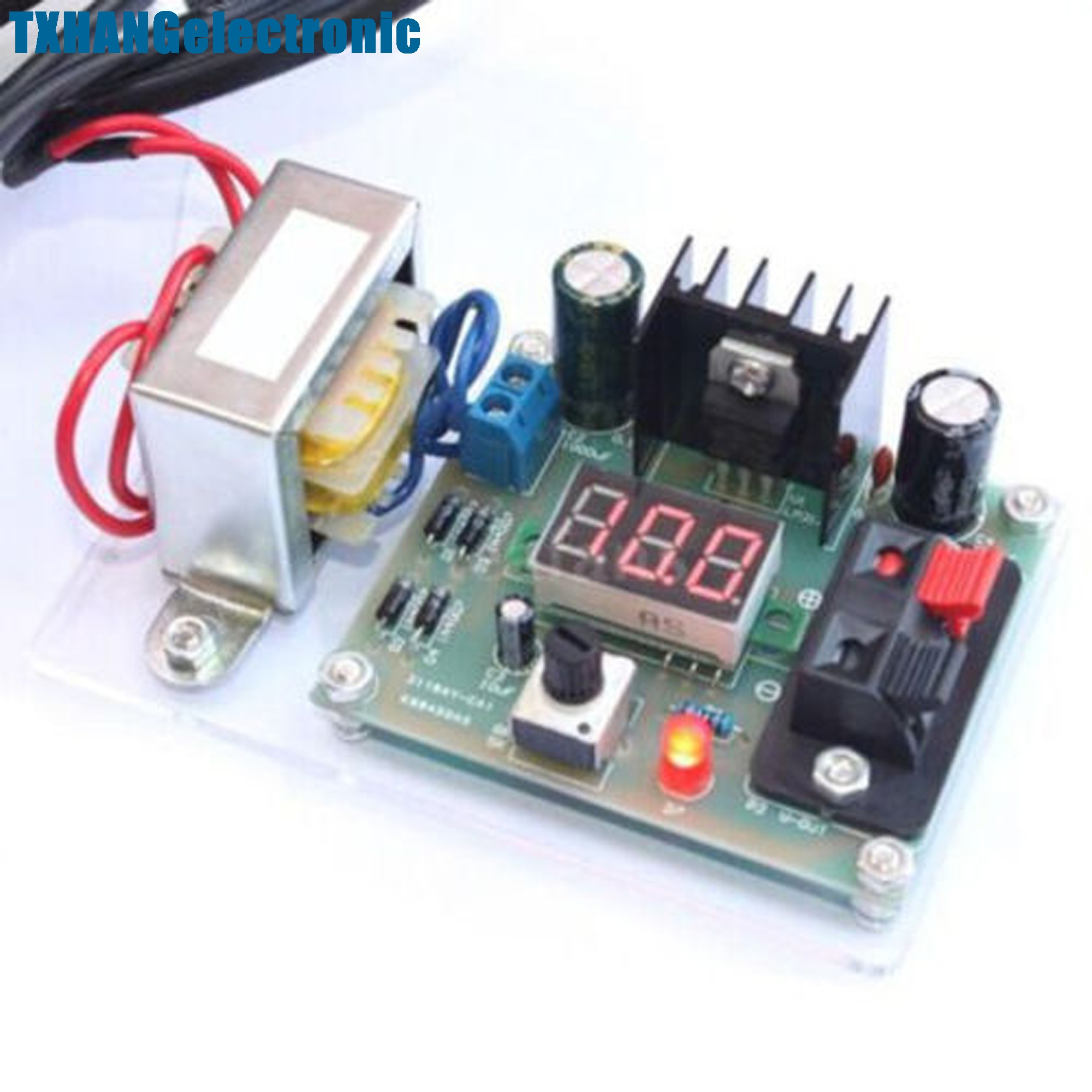 Continuously Adjustable Regulated Dc Power Supply Diy Kit Lm317 125 12v
