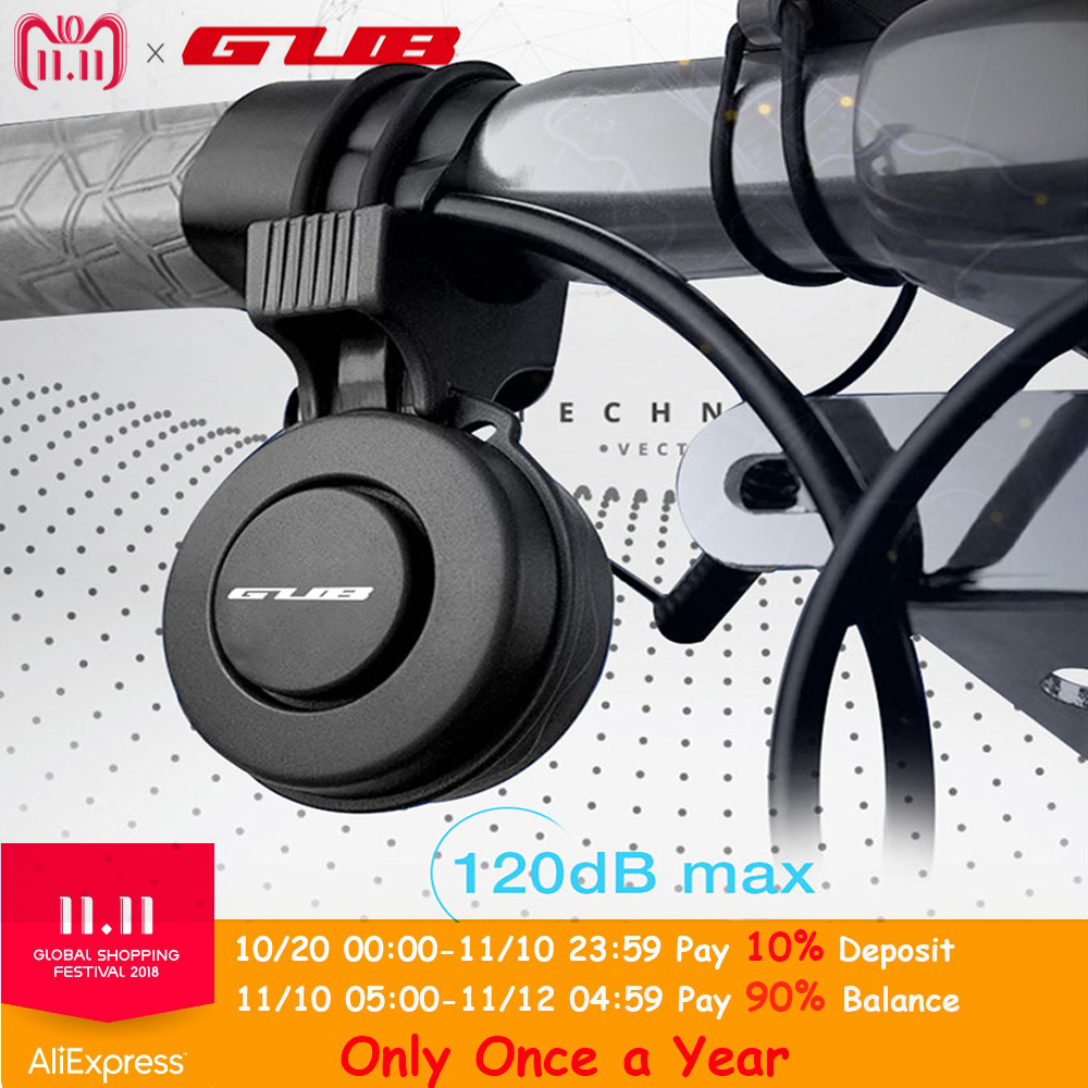 GUB Q-210 recargable impermeable volumen alto del manillar de la bicicleta eléctrica anillo Mini alarma electrónico bocina de bicicleta