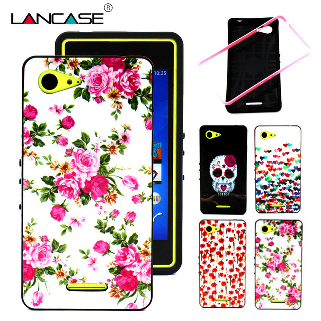 the best attitude 35032 96047 US $2.99 |Aliexpress.com : Buy For Sony Xperia E3 Cute OWL Skull Flower 2  IN 1 Soft Silicon Back Skin Frame Cover For Sony Xperia E3 Dual D2203 D2206  ...